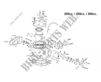 CYLINDER / HEAD for GASGAS EC 300 2007