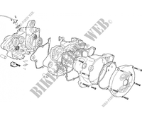 RIGHT CRANKCASE for GASGAS WILD HP 450 2005