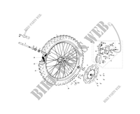 FRONT WHEEL / BRAKE for GASGAS EC 250 2013