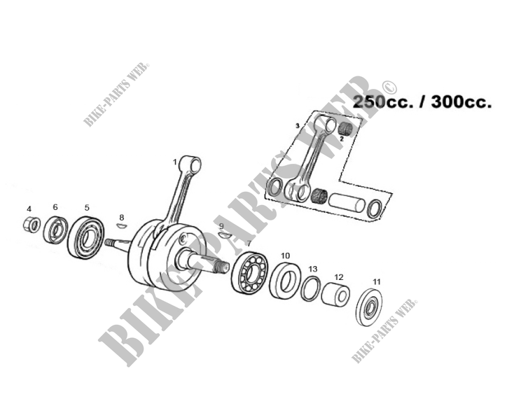 CRANKSHAFT for GASGAS EC 250 2013